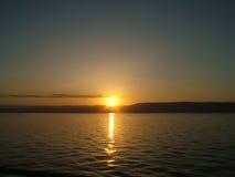Mar do nascer do sol de Galilee foto de stock royalty free
