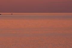 Mar do por do sol Fotos de Stock
