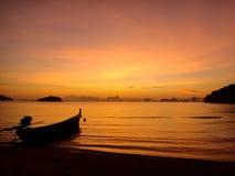 Mar do por do sol Imagem de Stock