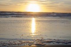 Mar do por do sol Imagem de Stock Royalty Free