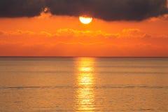 Mar do por do sol de Manarola Imagens de Stock Royalty Free