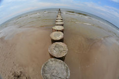 Mar do quebra-mar Fotografia de Stock