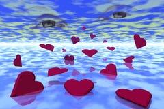 Mar dos corações Imagens de Stock