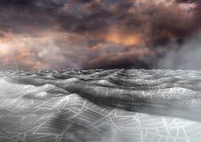 mar dos originais sob o céu crepuscular dramático ilustração stock