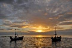 Mar e barco Foto de Stock Royalty Free
