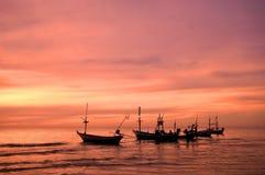 Mar e barco Imagem de Stock