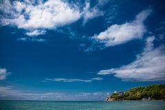 Mar e céu Foto de Stock Royalty Free