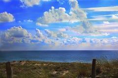 Mar e céu Fotos de Stock