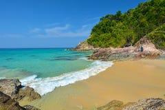 Mar e céu azul Fotografia de Stock Royalty Free