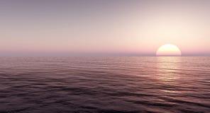 Mar e céu bonitos no por do sol Foto de Stock Royalty Free