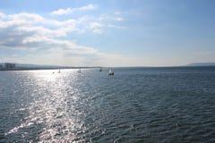 Mar e céus calmos fotos de stock royalty free