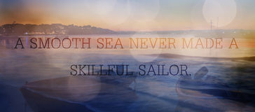Mar e citações Fotos de Stock Royalty Free
