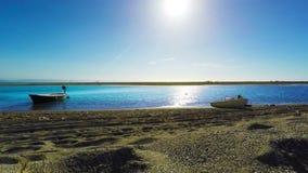 Mar e costa, natureza selvagem, câmera da rotação, tempo real, Itália sul, 4k video estoque
