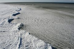 Mar e gelo imagem de stock royalty free