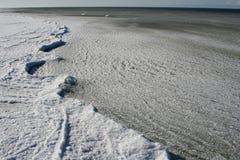 Mar e hielo Imagen de archivo libre de regalías