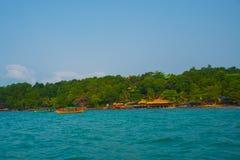 Mar e ilhas em Camboja Fotografia de Stock Royalty Free