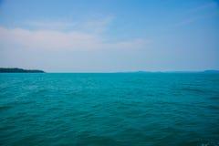 Mar e ilhas em Camboja Fotografia de Stock