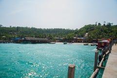 Mar e ilhas em Camboja Imagem de Stock