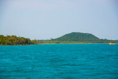 Mar e islas en Camboya Foto de archivo