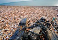 Mar e madeira Fotografia de Stock