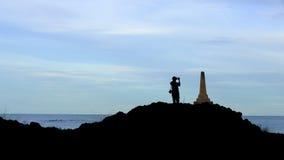 Mar e monumentos Imagens de Stock Royalty Free