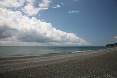 Mar e nuvens foto de stock