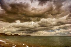 Mar e nuvens Imagens de Stock Royalty Free