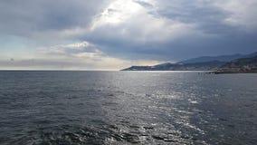 Mar e nuvens Foto de Stock Royalty Free