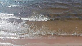 Mar e praia Ressaca do mar no Mar do Norte filme