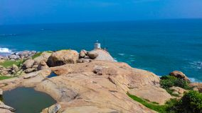 Mar e rocha fotografia de stock