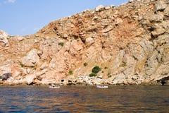 Mar e rochas Fotos de Stock Royalty Free