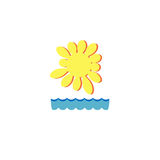 Mar e sol Foto de Stock Royalty Free