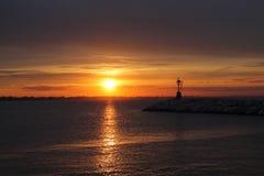 Mar e sol Imagens de Stock