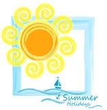 Mar e sol Fundo do verão Imagem de Stock