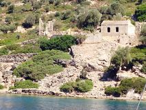 Mar Egeu imagem de stock