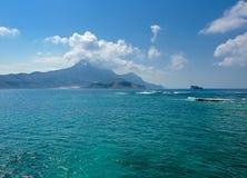Mar Egeu de turquesa Imagens de Stock