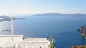 Mar Egeu infinito fantástico que lava o arquipélago de Santorini, curso a Grécia vídeos de arquivo