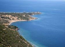 Mar Egeu - praia, Assos Foto de Stock Royalty Free