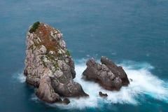 Mar em Bakio foto de stock