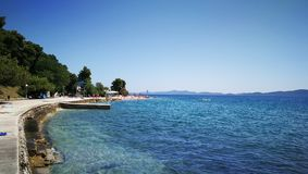 Mar em Zadar Foto de Stock Royalty Free