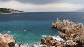 Mar en Croatia Imagenes de archivo