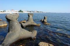 Mar en Eforie Nord. Fotografía de archivo