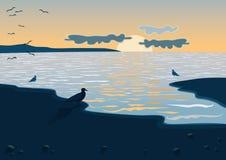 Mar en el ocaso Imagen de archivo