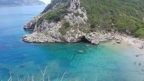 Mar en la isla de Corfú imagenes de archivo