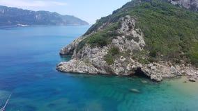 Mar en la isla de Corfú fotografía de archivo libre de regalías