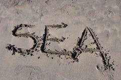 Mar en la playa Imagen de archivo