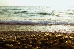 Mar en la puesta del sol Fotografía de archivo libre de regalías