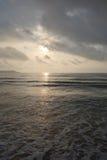 Mar en la salida del sol Imágenes de archivo libres de regalías