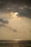Mar en la salida del sol Foto de archivo libre de regalías
