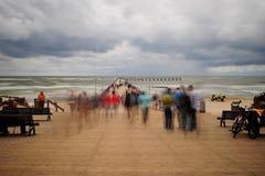 Mar en la tormenta Fotos de archivo libres de regalías